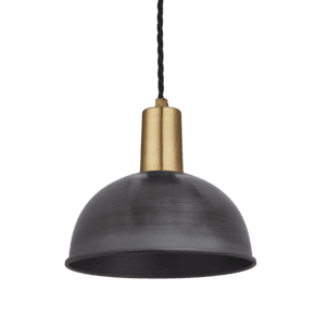 Sleek Dome Pendant - 8 Inch - Pewter