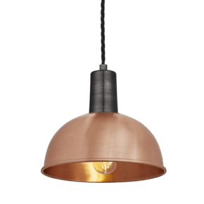 Sleek Dome Pendant - 8 Inch - Copper