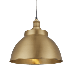 Brooklyn Dome Pendant - 13 Inch - Brass