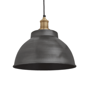 Brooklyn Dome Pendant - 13 Inch - Pewter