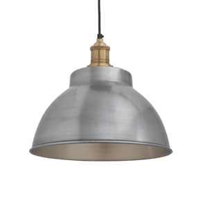 Brooklyn Dome Pendant - 13 Inch - Light Pewter