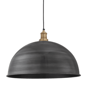 Brooklyn Dome Pendant - 18 Inch - Pewter