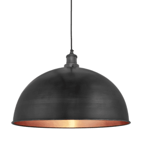 Brooklyn Dome Pendant - 18 Inch - Pewter & Copper