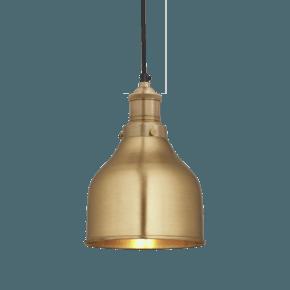 Brooklyn Cone Pendant - 7 Inch - Brass