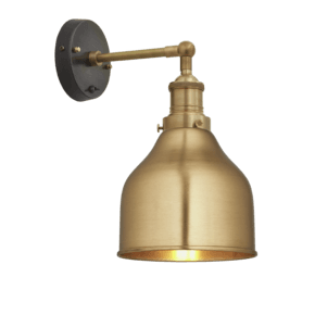 Brooklyn Cone Wall Light - 7 Inch - Brass