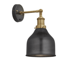 Brooklyn Cone Wall Light - 7 Inch - Pewter