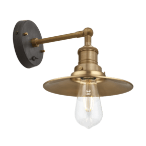 Brooklyn Flat Wall Light - 8 Inch - Brass