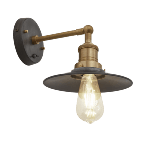 Brooklyn Flat Wall Light - 8 Inch - Pewter
