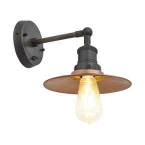 Brooklyn Flat Wall Light - 8 Inch - Copper