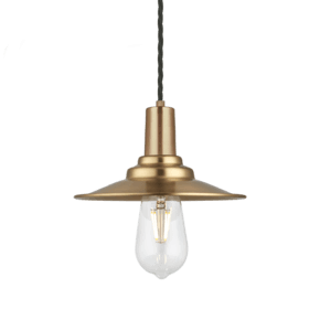 Sleek Flat Pendant - 8 Inch - Brass