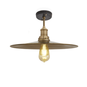 Brooklyn Flat Flush Mount - 15 Inch - Brass