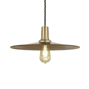 Sleek Flat Pendant - 15 Inch - Brass
