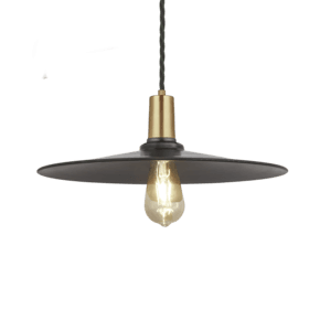 Sleek Flat Pendant - 15 Inch - Pewter