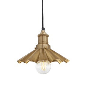 Brooklyn Umbrella Pendant - 8 Inch - Brass