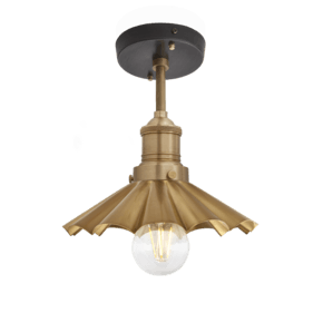 Brooklyn Umbrella Flush Mount - 8 Inch - Brass