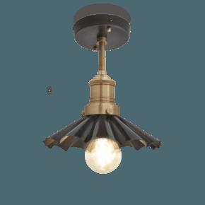 Brooklyn Umbrella Flush Mount - 8 Inch - Pewter
