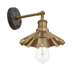 Brooklyn Umbrella Wall Light - 8 Inch - Brass