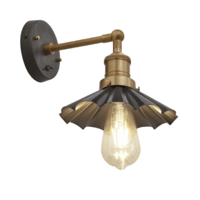 Brooklyn Umbrella Wall Light - 8 Inch - Pewter