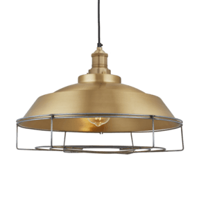 Brooklyn Step Pendant - 16 Inch - Brass