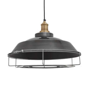 Brooklyn Step Pendant - 16 Inch - Pewter