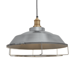 Brooklyn Step Pendant - 16 Inch - Light Pewter