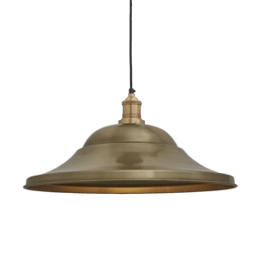 Brooklyn Giant Hat Pendant - 21 Inch - Brass