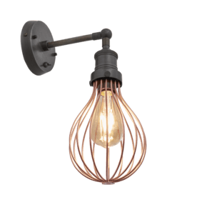 Brooklyn Balloon Cage Wall Light - 6 Inch - Copper