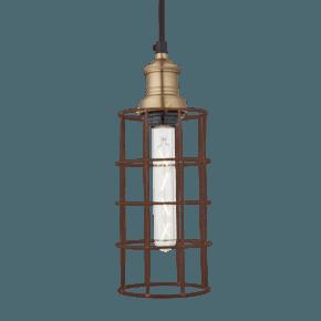 Brooklyn Rusty Cage Pendant - 5 Inch - Cylinder