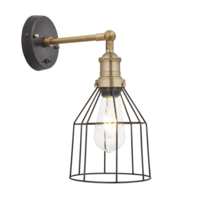 Brooklyn Wire Cage Wall Light - 6 Inch - Pewter - Cone