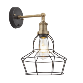 Brooklyn Wire Cage Wall Light - 8 Inch - Pewter - Rose