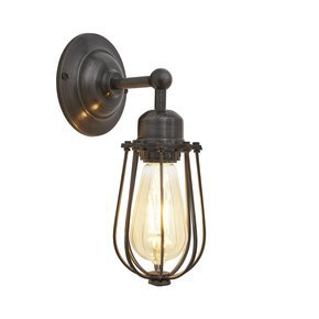 Orlando Wire Cage Wall Light - 4 Inch - Pewter