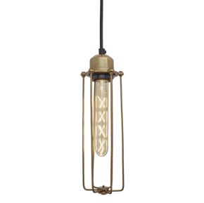 Orlando Cylinder Pendant - 3 Inch - Brass