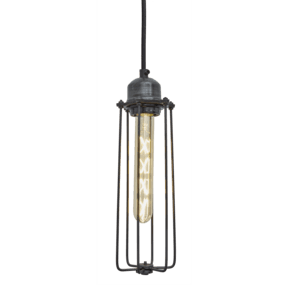 Orlando Cylinder Pendant - 3 Inch - Pewter