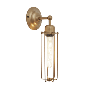 Orlando Cylinder Wall Light - 3 Inch - Brass