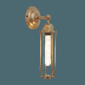 Orlando Cylinder Wall Light - 3 Inch - Brass