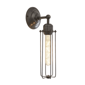 Orlando Cylinder Wall Light - 3 Inch - Pewter