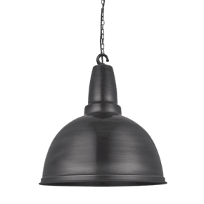 Retro Large Pendant - 17 Inch - Pewter