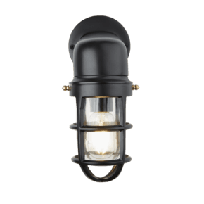 Bulkhead Sconce Wall Light - 12 Inch - Black