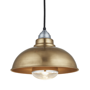 Old Factory Heat Pendant - 12 Inch - Brass