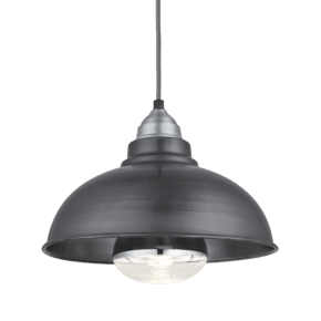 Old Factory Heat Pendant - 12 Inch - Pewter