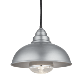 Old Factory Heat Pendant - 12 Inch - Light Pewter