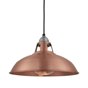 Old Factory Slotted Heat Pendant - 15 Inch - Copper