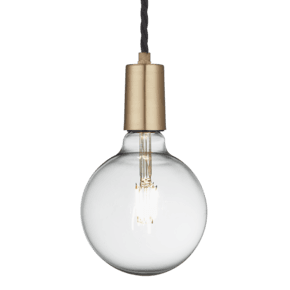 Sleek Edison Pendant - 1 Wire - Brass