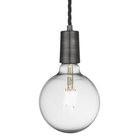 Sleek Edison Pendant - 1 Wire - Pewter