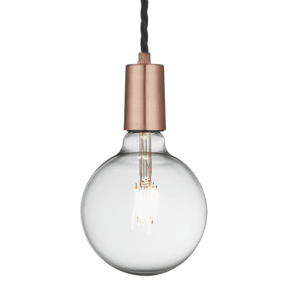 Sleek Edison Pendant - 1 Wire - Copper