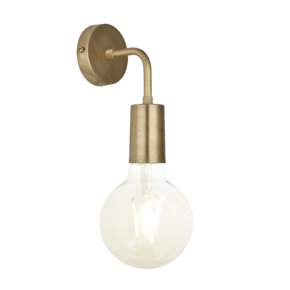 Sleek Edison Wall Light - Brass