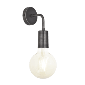 Sleek Edison Wall Light - Pewter