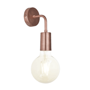 Sleek Edison Wall Light - Copper