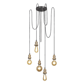 Brooklyn 5 Wire Pendant - Brass