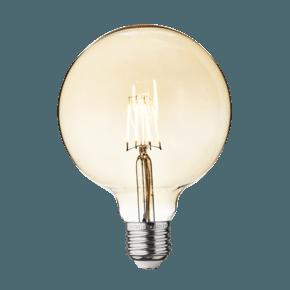 Vintage LED Edison Bulb Old Filament Lamp - 5W E27 Globe G125 - Amber